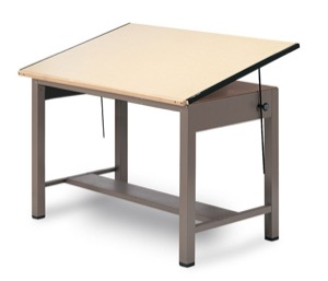 Mayline Ranger Steel Four-Post Drawing & Drafting Table