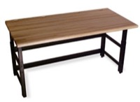 "Mayline Techworks Tables - 48""W 30""D Adjustable Table with 1 3/4"" butcher block surface - Rectangular"