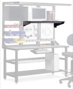 "Mayline Techworks Shelves - 48""W Low Pressure Laminate Fixed Shelf"