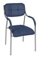 Regency Guest Chair - Uptown Side Chair-Navy Blue