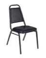 Regency Cafe Seating - Restaurant Stack Chair - Black