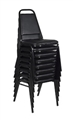 Regency Cafe Seating - Restaurant Stack Chair (8 pack) - Black