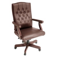 Regency - Ivy League Traditional Swivel Chair, Leather - 9040L