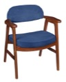Regency Guest Chair - 476 Side Chair  - Cherry/ Blue