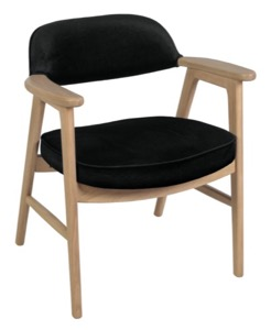 Regency Guest Chair - 476 Sustainable Leather Side Chair  - Natural/ Black