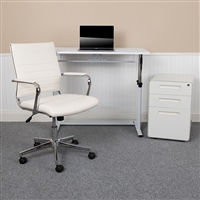 Work From Home Desk, Chair, Mobile File Cabinet