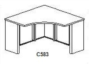 "CSII Stand Alone Corner Surfaces, 24""D x 42""W x 42""W x 24""D x 29""H,No Modesty"