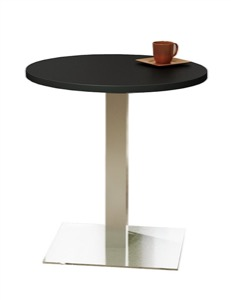 "Mayline - Bistro Dining Table 30"" Round - Stainless Steel Base"