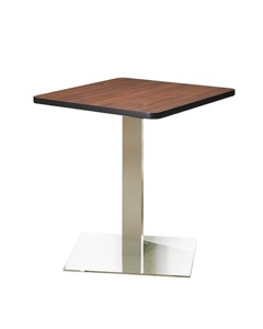 "Mayline - Bistro Dining Table 30"" Square - Stainless Steel Base"