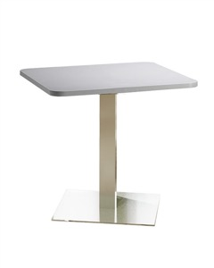 "Mayline - Bistro Dining Table 36"" Square - Stainless Steel Base"