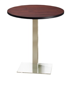 "Mayline - Bistro Bar-Height Table 42"" Round - Stainless Steel Base"