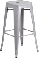 Silver Metal Bar Stool