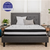 Twin Size Memory Foam and Spring Mattress In A Box
