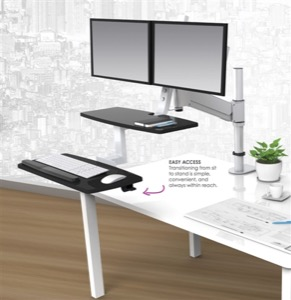 ESI ErgoRise Series Height Adjustable Workstation