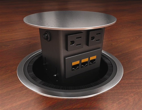 Conference Table Power Module - ACT Pop-up (Image shows two electrical