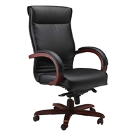 Mayline Office Furniture Mercado Leather Series - CORSICA High-Back Chair