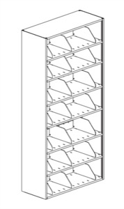 7-Tier 4-Post Shelving Unit Dual Sided Starter; 24W x 18D x 76H w/ 3 Dividers Per Shelf