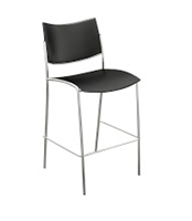 Escalate Stool, Plastic Back and Seat Black - Quantity 2