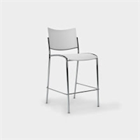 Escalate Stool, Plastic Back and Seat White - Quantity 2