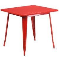 Red Metal Indoor Table