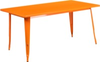 Rectangular Orange Metal Table