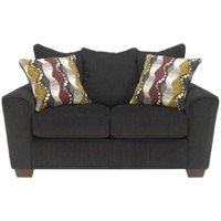 Ebony Chenille Loveseat