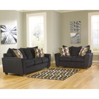 Ebony Chenille Living Room Set
