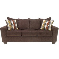 Walnut Chenille Sofa