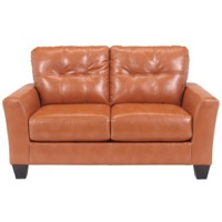 Orange DuraBlend Loveseat