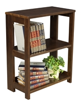 "Flip Flop 28"" High Folding Bookcase - Mocha Walnut"