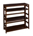 "Flip Flop 34"" High Folding Bookcase - Mocha Walnut"