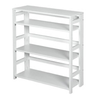 "Flip Flop 34"" High Folding Bookcase - White"