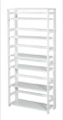 "Flip Flop 67"" High Folding Bookcase - White"