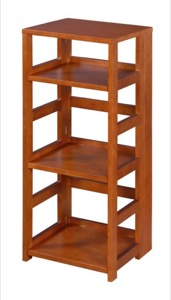 "Flip Flop 34"" High Square Folding Bookcase - Cherry"