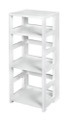 "Flip Flop 34"" High Square Folding Bookcase - White"