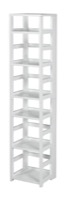 "Flip Flop 67"" High Square Folding Bookcase - White"
