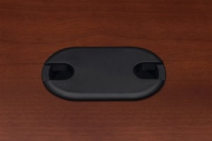 "Grommets, 3 1/2""W x 2""D, Recommended for Conference Table & Desk Tops (Black Only)"