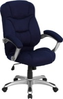 Blue Microfiber office chair