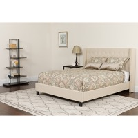 Twin Platform Bed Beige