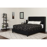 Queen Platform Bed Set Black