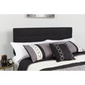 Bedford Tufted Upholstered Queen Size Headboard - Black Fabric
