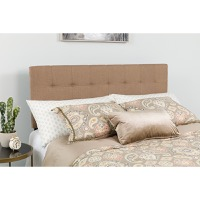 Bedford Tufted Upholstered Queen Size Headboard - Camel Fabric