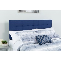 Bedford Tufted Upholstered Queen Size Headboard - Navy Fabric