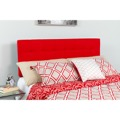 Bedford Tufted Upholstered Queen Size Headboard - Red Fabric