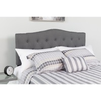 Cambridge Tufted Upholstered Queen Size Headboard - Dark Gray Fabric