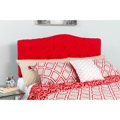 Cambridge Tufted Upholstered Queen Size Headboard - Red Fabric