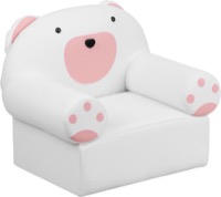 Pink and White Kids Bear Chair
