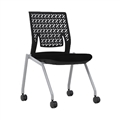 Thesis Training Chair, No Arms, Flex Back, Black Fabric Seat; Carton of 2
