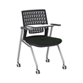 Thesis Training Chair, with Tablet, Flex Back, Black Fabric Seat; Carton of 2