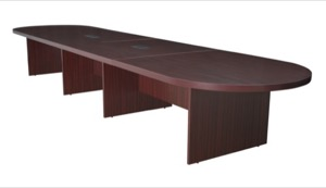 "Regency Legacy 192"" Modular Racetrack Conference Table with 2 Power Data Grommets - Mahogany"